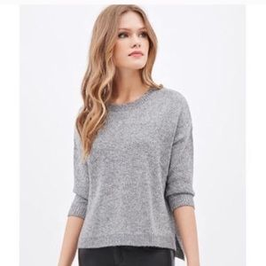 🎉Forever 21 Contemporary metallic silver sweater